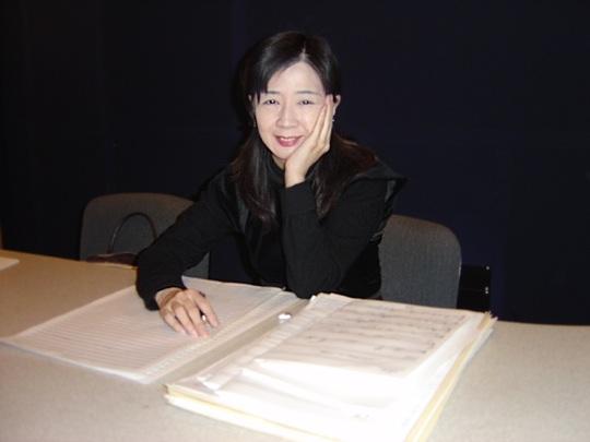 Michiru Oshima au travail sur la partition de FMA
